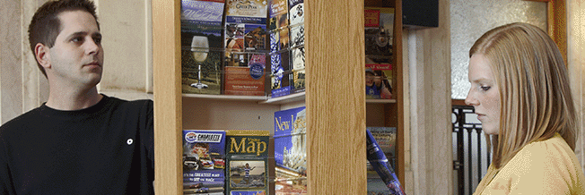 great displays picture of floor standing spinning literature stand