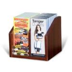 counter_top_brochure_display_mahogany_wood