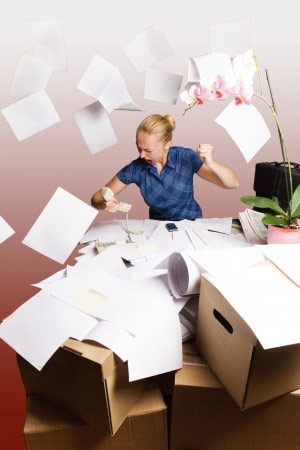 office organization ideas - cleaning up office clutter