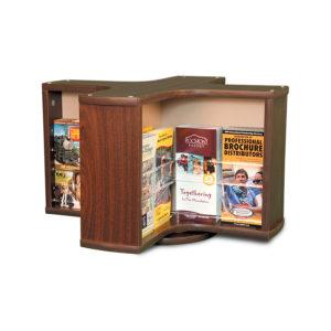 spinning mahogany countertop display stand